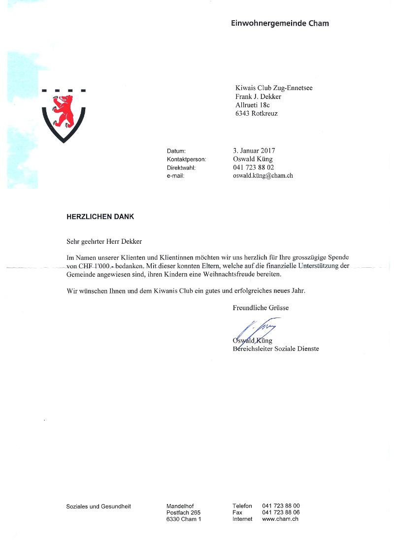 Kiwanis-Club Zug Ennetsee
